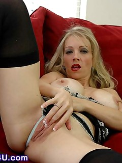 Blonde MILF in