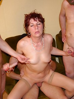 Hot wife gangbanged piccs